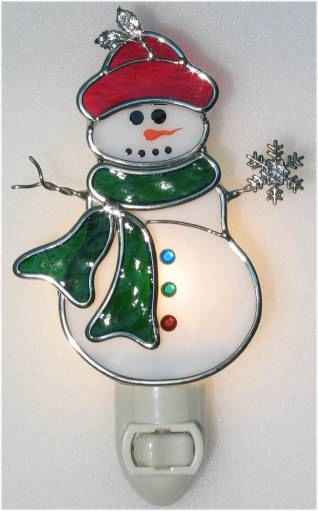 Snowman with Scarf Night Light