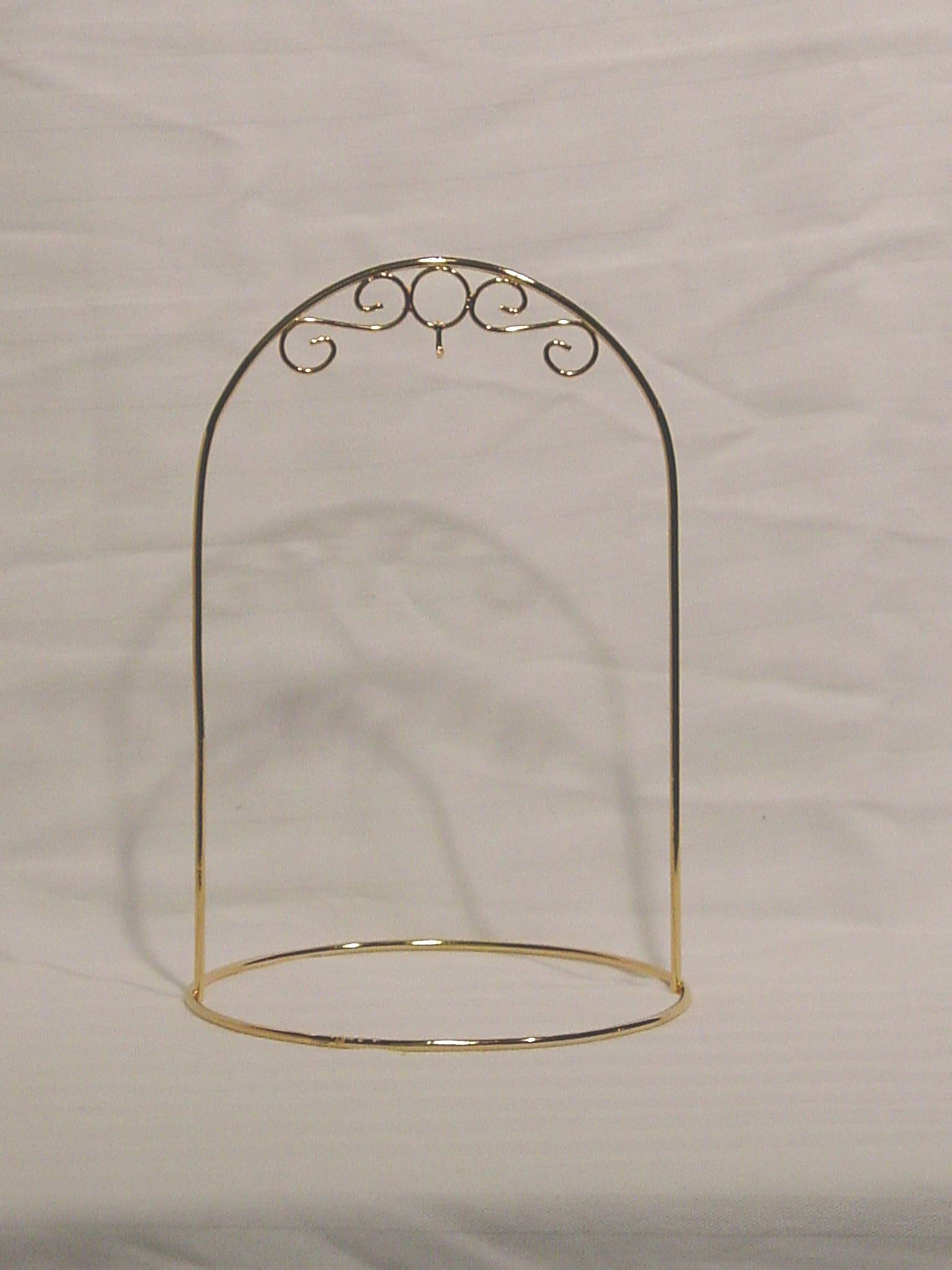 8 Inch Ornament Stand<br>Gold or Silver