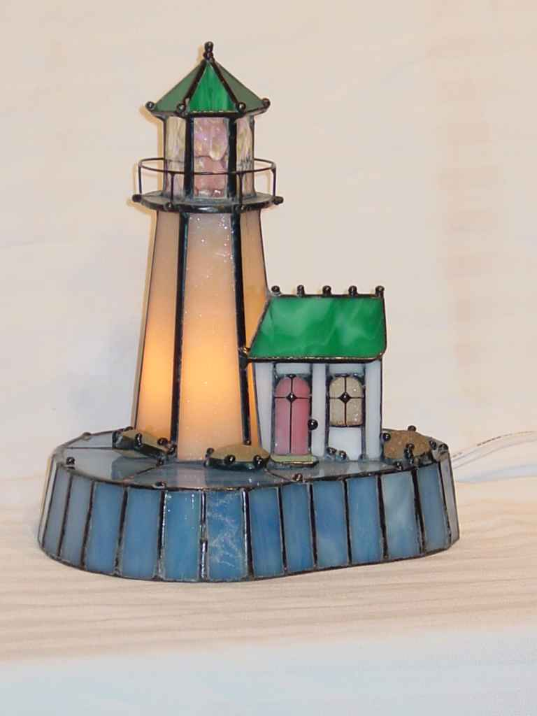 Lighthouse Cream with Blue Base