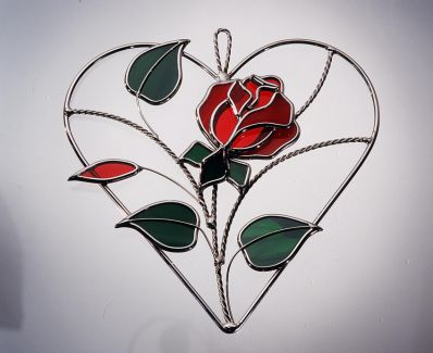 Ruby Red Rose Heart