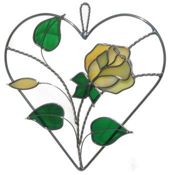 Golden Yellow Rose Heart