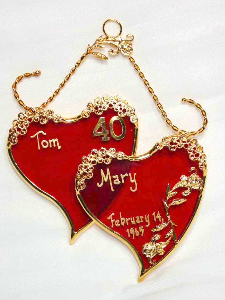 Wedding Gift For 40th : ... glass wedding anniversary gifts the 40th wedding anniversary is