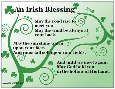 An Irish Blessing Refrigerator Magnet