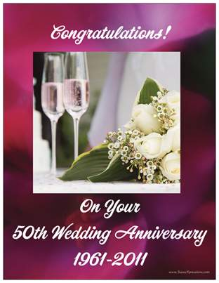 Congratulations! on Your 50th Wedding Anniversary Refrigerator Magnet