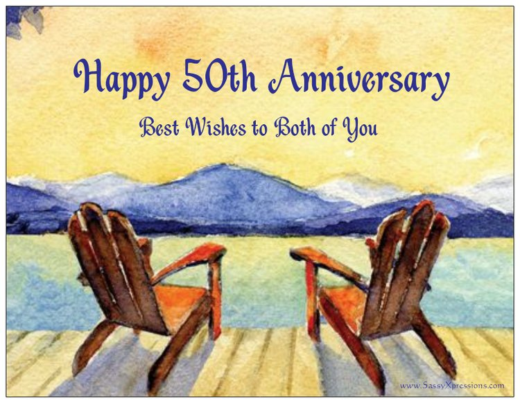 Happy 50th Adirondack Chairs Refrigerator Magnet
