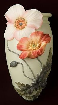 Chinese Poppies Wall Decor/Wall Vase