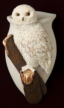 Snowy Owl Wall Vase/Wall Pocket