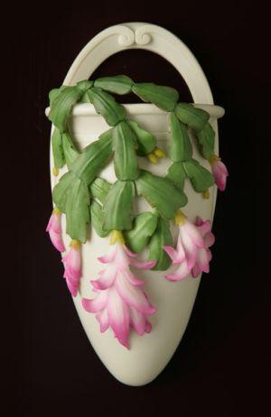Christmas Cactus Wall Vase/Wall Pocket