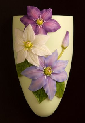 Clematis Wall Vase/Wall Pocket
