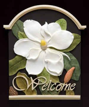 Magnolia Welcome Plaque