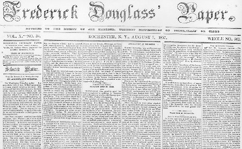 Frederick Douglass North Star Newspaper