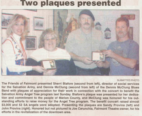 Dennis McClung Blues News Photo in Fairmont WV