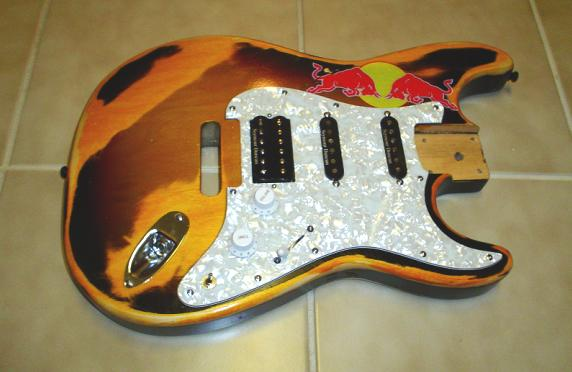 clearcoat body with pickguard and sticker