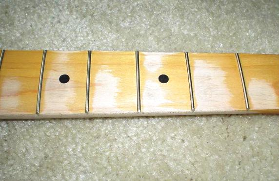 relic work on frets 1-6