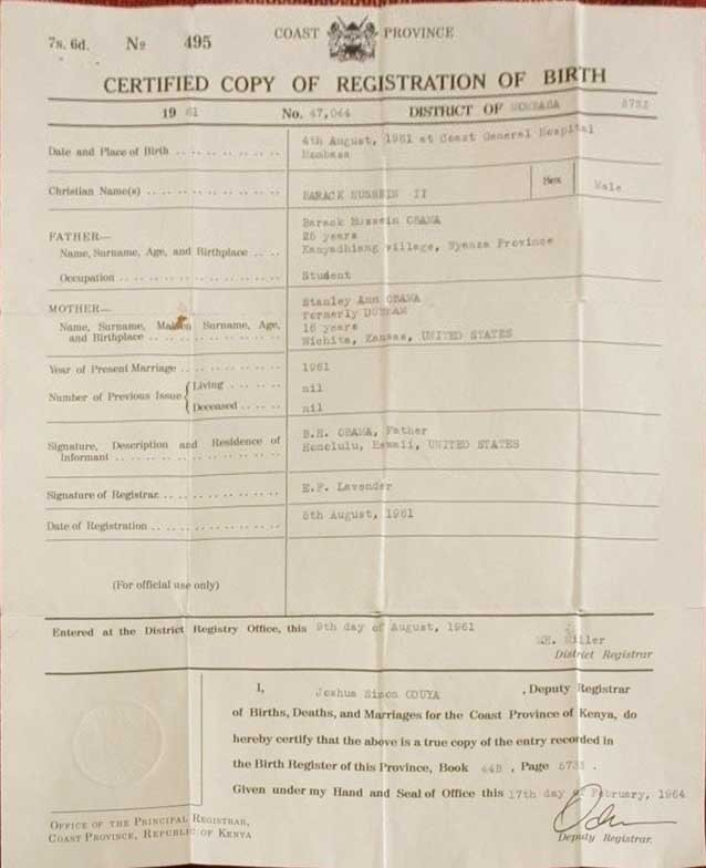 barry soetoro birth certificate choice image certificate
