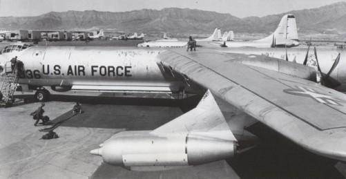B-36D aircraft at Biggs AFB, 1956.