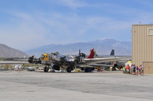B-17B 44-85778 N3509G at Palm Springs in March
