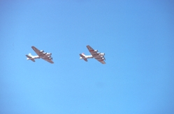 B-17s in flight.