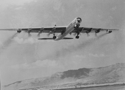 B-36J taking off from Biggs AFB.