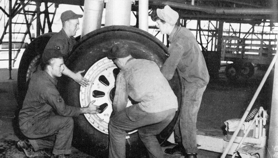 B-36 wheel change