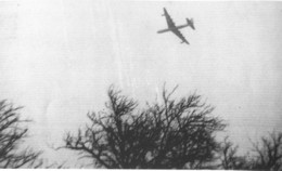 B-36 over El Paso prior to crash