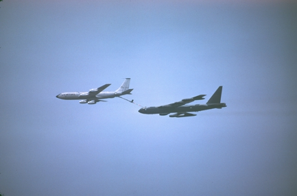KC-135A passing gas