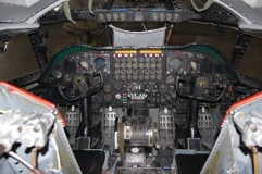 B-52D simulators instrument panel
