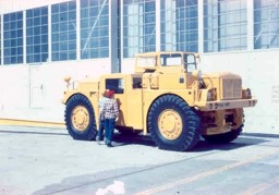 Large aircraft tug Biggs Air Force Base