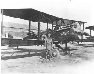 DH-4 at the original location of Biggs Field                     1920