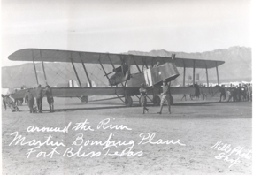 Martin MB-1 at the original location of Biggs