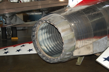 F-100 Super Saber afterburner