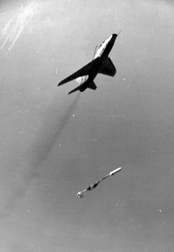 "F-100D delivering a ""lay down""