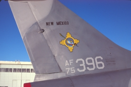 A-7D tail markings for the New Mexico Air                   National Guard A-7D