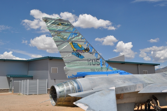 Final tail markings on New Mexico Air National                   Guard F-16s