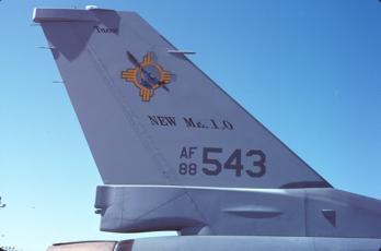 Original New Mexico Air                     National Guard F-16 tail markings