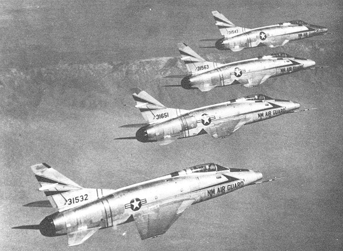 F-100A's of the 188th FIS                       New Mexico Air National Guard