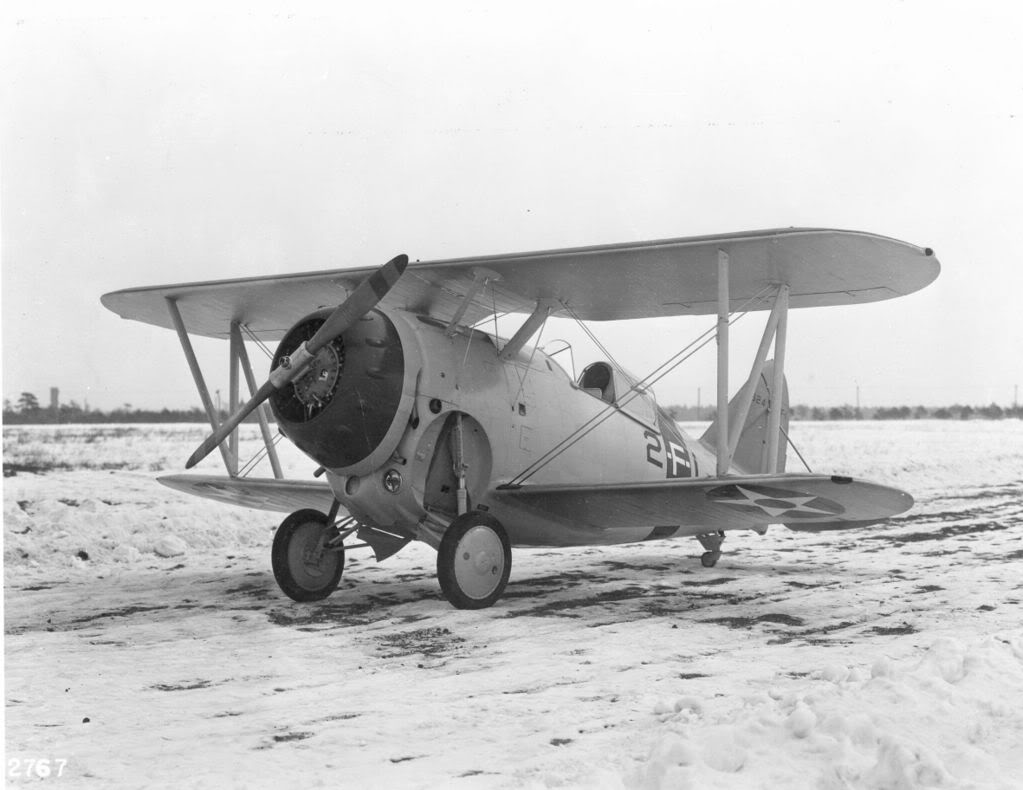 Grumman F2F-1 on a cold, wintry day at Bethpage,
