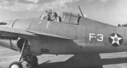 Butch O'Hare in a Grumman F4F-3
