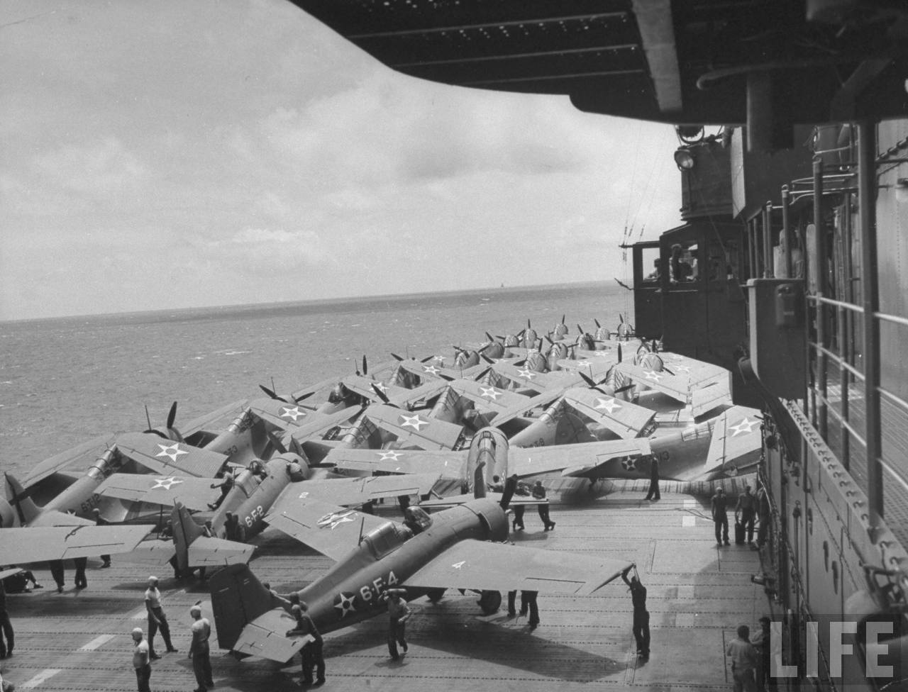 Grumman F4F-3 Wildcats aboard the Enterprise