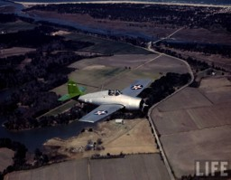 Grumman F4F-3 over Long Island taken by Life VF-41