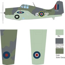 Grumman Martlet/Wildcat IV color scheme and