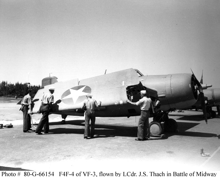 F4F-4 Bureau number 5171 flown by James