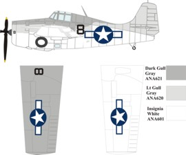 Grumman designed Eastern built FM-1 atlantic ASW color