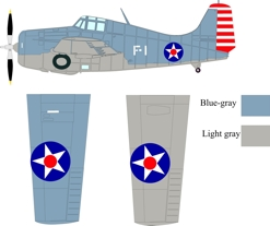 Grumman F4F-3 Wildcat color scheme and markings