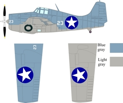 Grumman F4F-4 Wildcat color scheme and markings