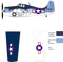 Grumman Eastern FM-1 color scheme and markings