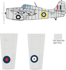 Grumman Martlet III F4F-3A Wildcat color scheme and