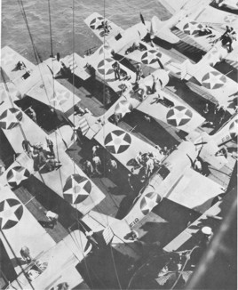 VF-6 F4F-3 Wildcats aboard the USS Enterprise. All
