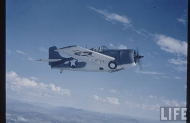 Eastern FM-1 Wildcat over San Diego
