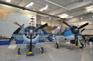 Grumman FM-2 and F6F-5 side by side